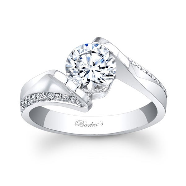 Barkev's Designer 14k White Gold Round-cut Diamond Engagement Ring (F-G, SI1-SI2)