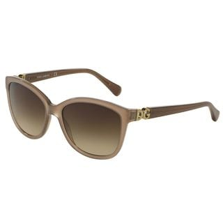 Dolce & Gabbana Women's DG4258 Brown Plastic Square Sunglasses