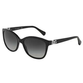 Dolce & Gabbana Women's DG4258 Black Plastic Square Sunglasses