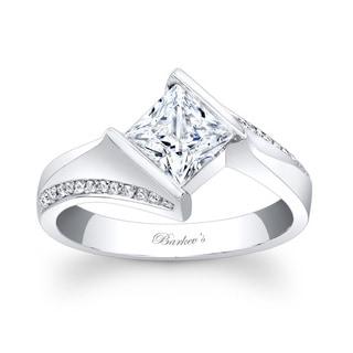 Barkev's Designer 14k White Gold Princess-cut Diamond Engagement Ring (F-G, SI1-SI2)