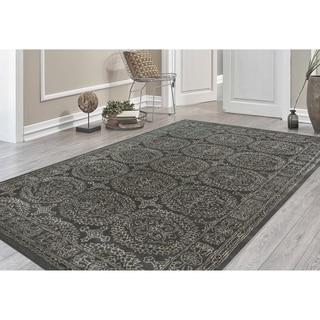 Hand-tufted Saint Thomas Dove Grey Blended New Zealand Wool and Art Silk Rug (7'6 x 9'6)