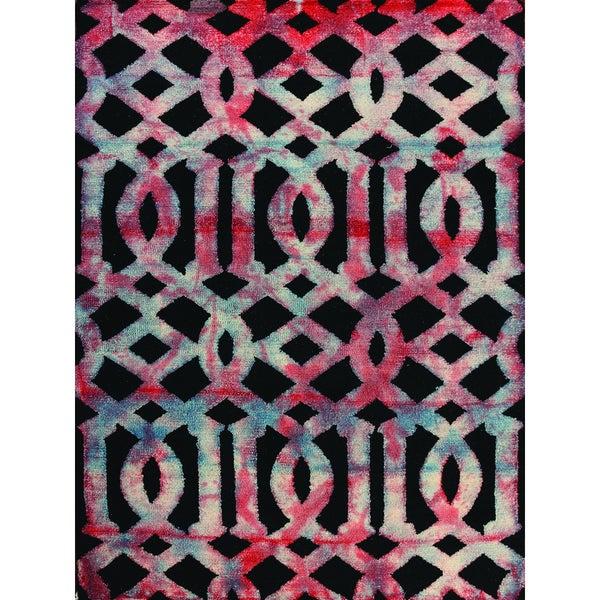 Hand-tufted Constantine Dark Grey New Zealand Wool Rug (8' x 11')