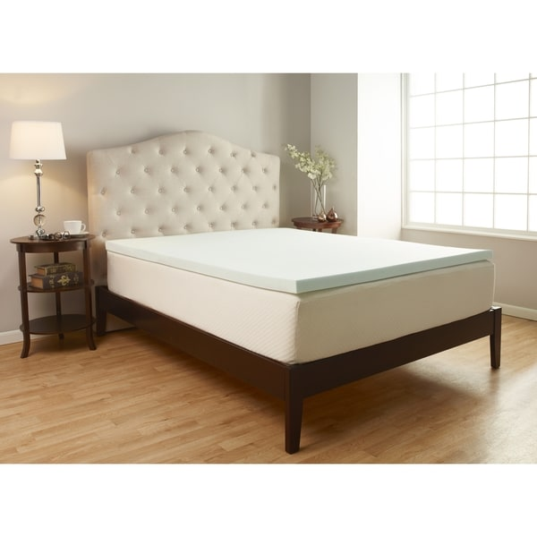 Serene Foam 2-inch Advanced Supportive Air Technology Foam Mattress Topper