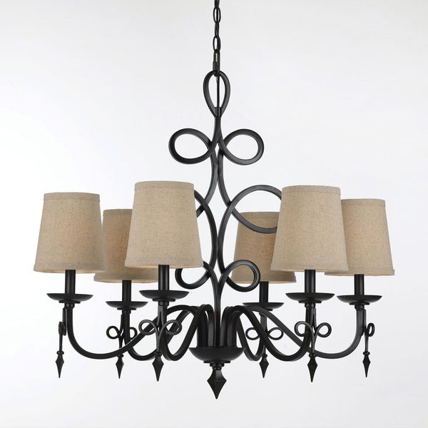 Candice Olson Bronze 8600-6H Rhythm Chandelier