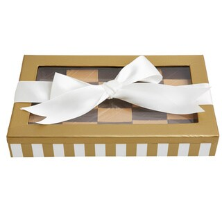 Chewy Addictive Peanut Confections Gold/ Ivory Gift Box