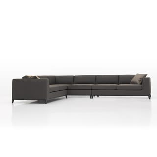 Lazio Modern Grey Linen Sectional Sofa