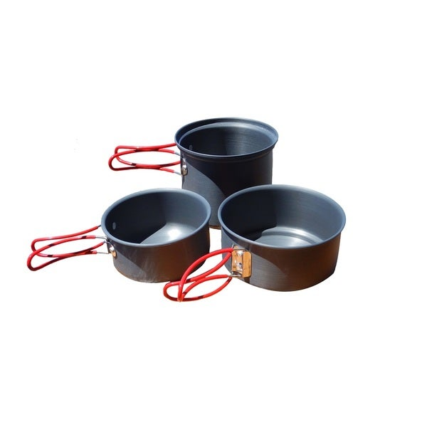 Alpine Mountain Gear Backpacker Hard Anodized Cookset-3 Pc