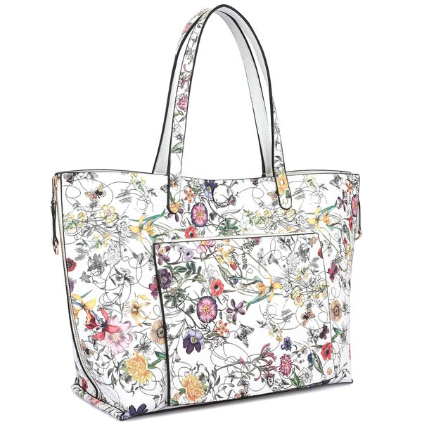 Dasein Floral Reversible Tote Bag