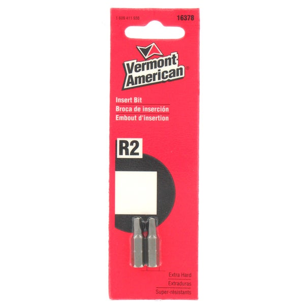 Vermont American 16378 #2 Square Recess Icebit Screwdriver Bit 2-count