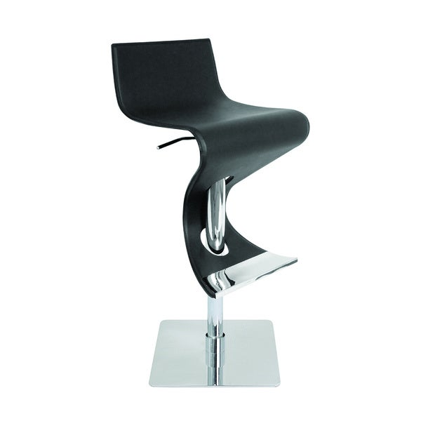 Viva Contemporary Regenerated Leather Adjustable Barstool