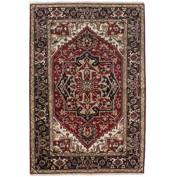 ecarpetgallery Hand-knotted Serapi Heritage Red Wool Rug (5'11 x 8'11) 17779374