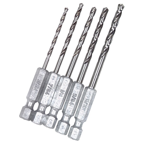 Vermont American 13135 5-piece Hex Shank Drill Bit Set