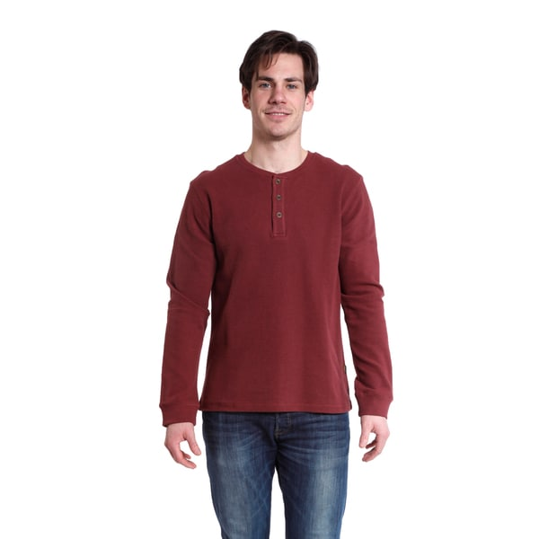 Stanley Men's Long Sleeve Waffle Henley Shirt