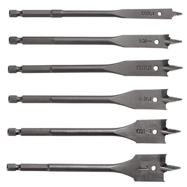 Vermont American 14482 6-piece Wood Drill Bit Set