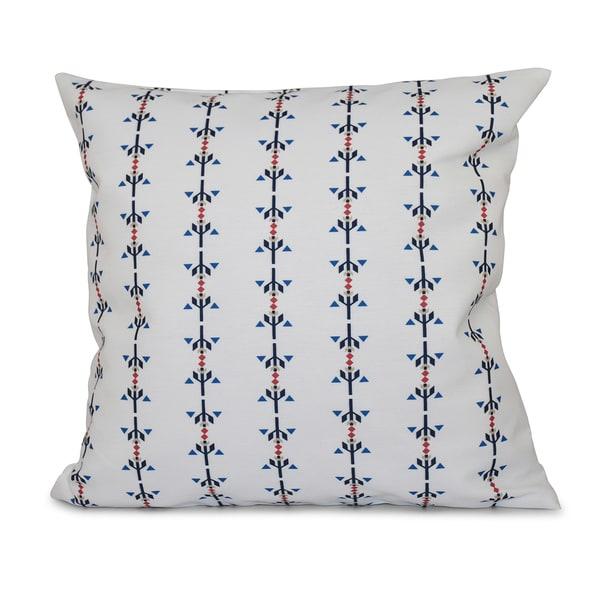 Jodhpur Stripe Print 16-inch Throw Pillow