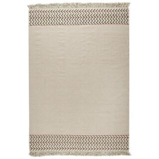 M.A.Trading Hand-woven Valparaiso White Rug (9' x 12')