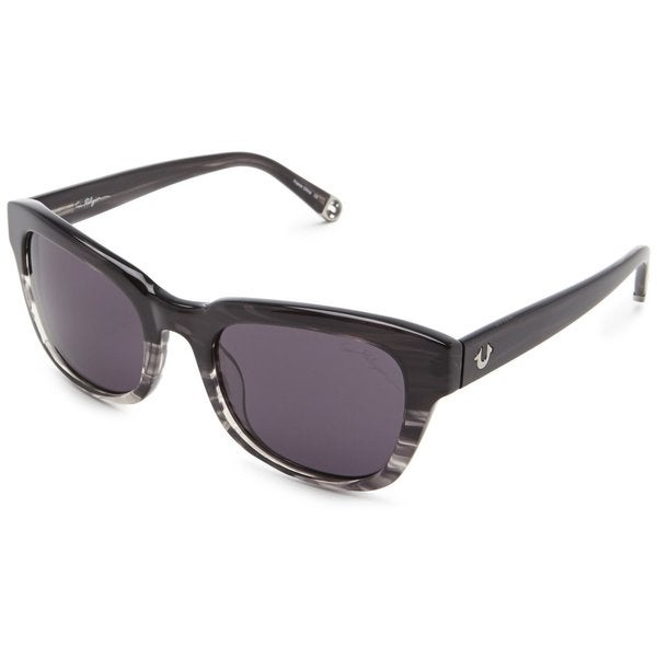 True Religion Heather Rectangular Grey Crystal Havana Sunglasses