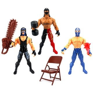 Velocity Toys XTR Masters of the Ring Wrestling Play Set with 3 Toy Figures and Accessories