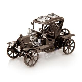 Charcoal Metal Replica Antique Ford 4 T Car Made with Genuine Matashi Crystals