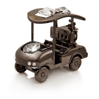 Charcoal Metal Plated Golf Cart Made with Genuine Matashi Crystals