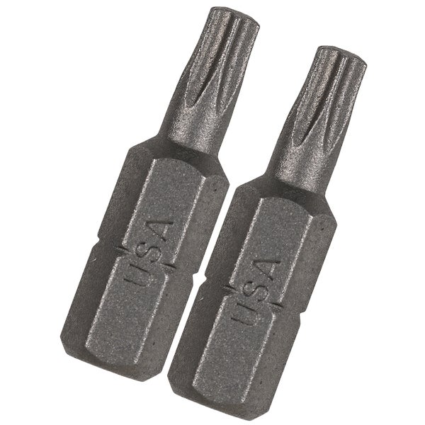 Vermont American 15408 1-inch TX30 Extra Hard Torx Insert Power Bits 2-count
