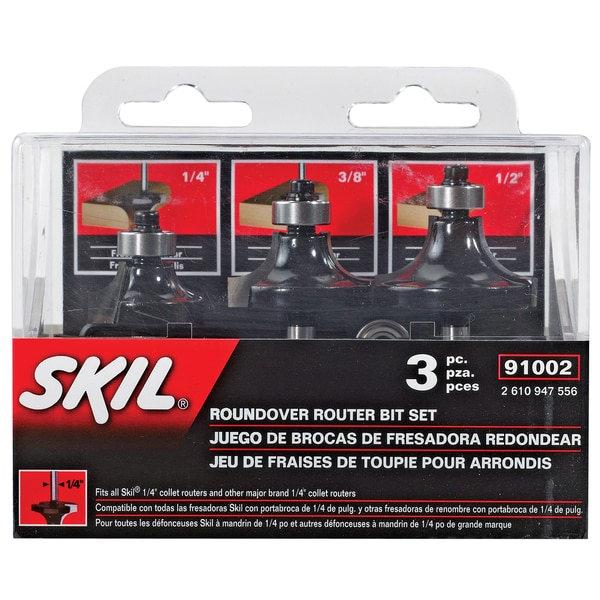 Skil 91002 3-piece Carbide Roundover Set