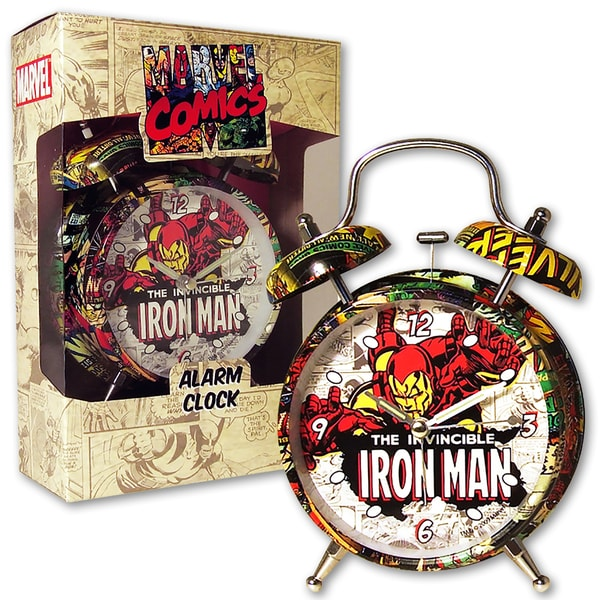 Marvel Comic Iron Man 4-inch Alarm Clock