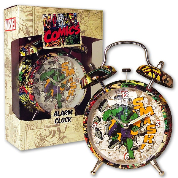 Marvel Comic Hulk 4-inch Alarm Clock