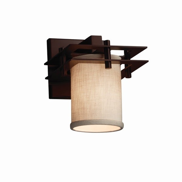 Justice Design Group Textile Metropolis Wall Sconce (2 Flat Bars)