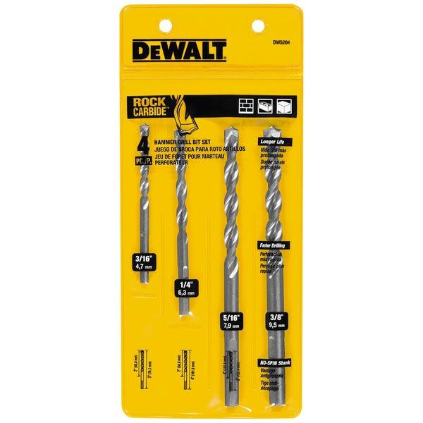 DeWalt DW5204 4-piece Masonry Bit Set