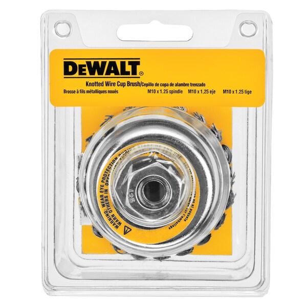 DeWalt DW4916 4-inch Knotted Cup Brush