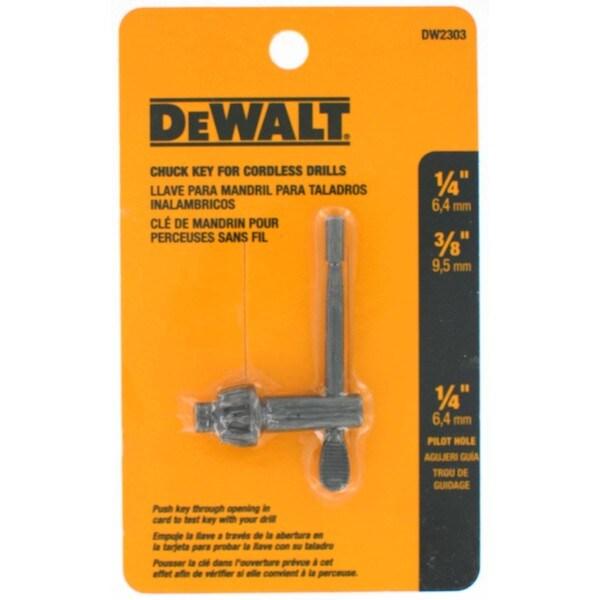 Dewalt DW2303 0.25-inch and .375-inch, 0.25-inch Pilot Chuck Key