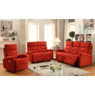 Easy Living Holland 3 Piece Power Reclining Living Room Set with USB