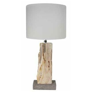 Citum 5 in. Petrified Wood Table Lamp
