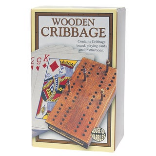 House of Marbles 221153 Wooden Cribbage Game