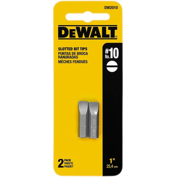 DeWalt DW2010 #10 Slotted Bit Tips 2-count