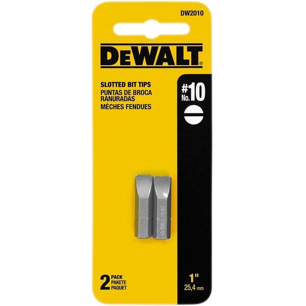 DeWalt DW2010 #10 Slotted Bit Tips 2-count