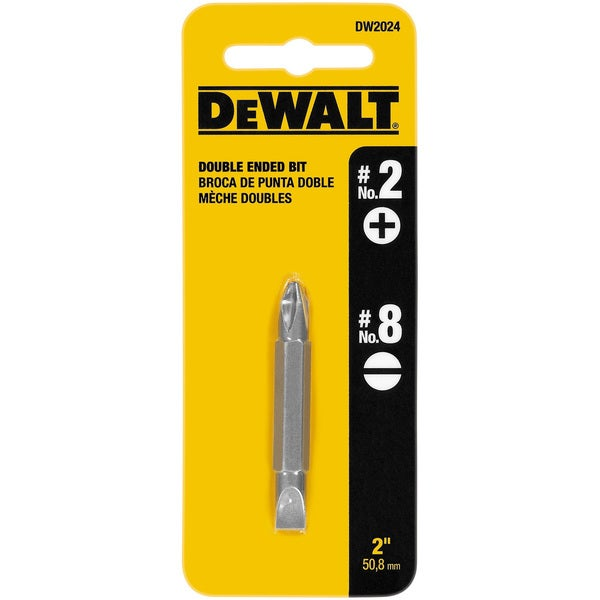 Dewalt DW2024 #2 Phillips - #8 Slotted Double-End Power Bit