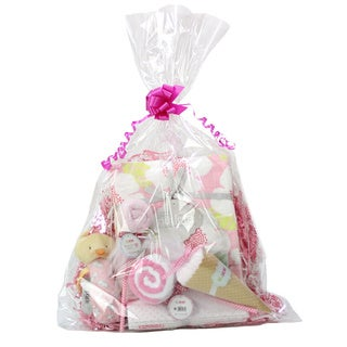 Sweet Baby Girl Toy and Blanket Gift Assortment
