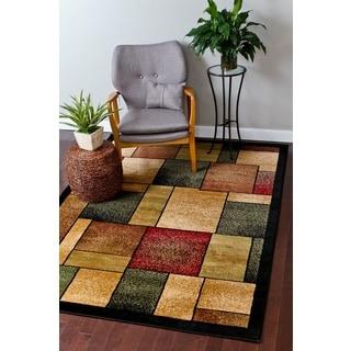 Persian Rugs Modern Trendz Squares Area Rug (9' x 12'6)
