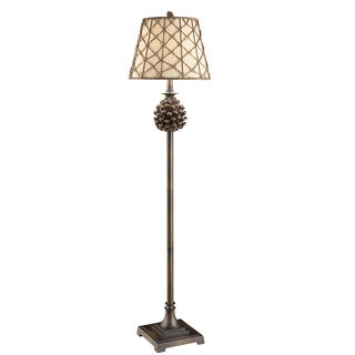 Crestview Collection 33 in. Natural Wood Table Lamp