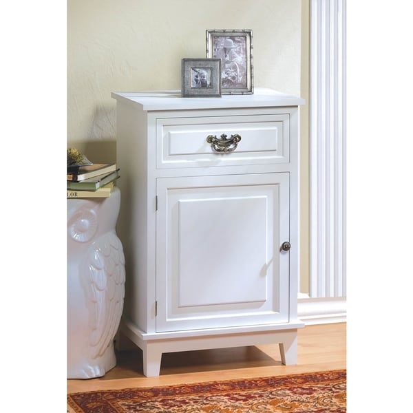 Classic White Wooden Chest