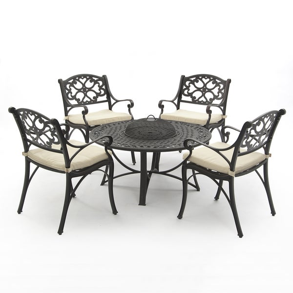 Oregon Aluminium Firepit Collection(1 table, 4 arm chairs)