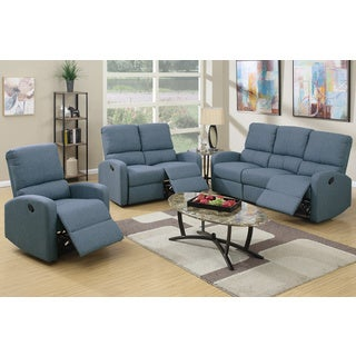 Afragola 3 Piece Living Room Set Upholstered in Polyfiber