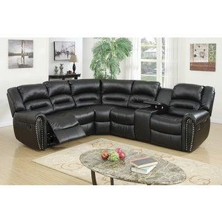 Zhanaozen Motion Bonded Leather Upholstered Sectional