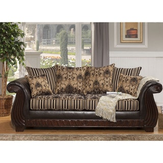 Furniture of America Kellos Formal Traditional Upholstered Sofa