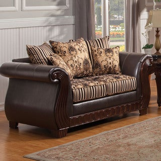 Furniture of America Kellos Formal Traditional Upholstered Loveseat