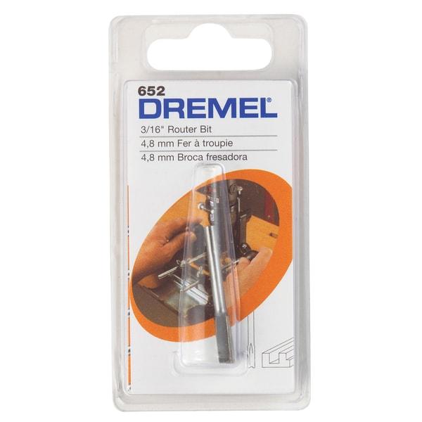 Dremel 652 3/16-inch Straight Router Bit