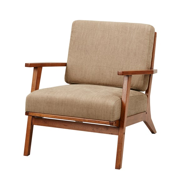 Madison Park Aigle Exposed Wood Accent Chair