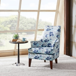 Madison Park Bristol Printed Blue Multi Swoop Arm Chair